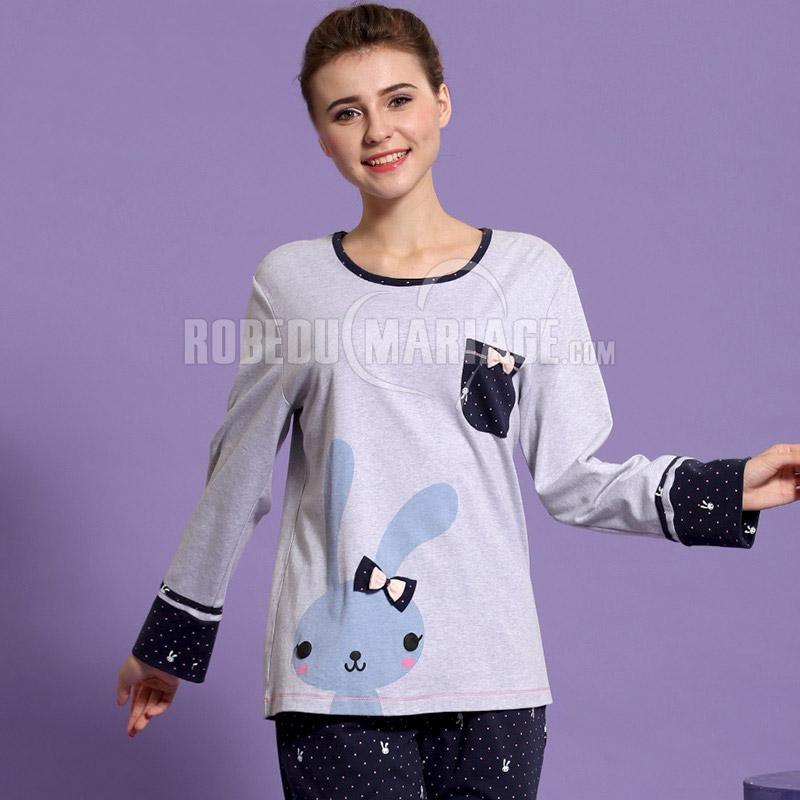 lapin pyjama pas cher pour femme confortable coton robe209371. Black Bedroom Furniture Sets. Home Design Ideas
