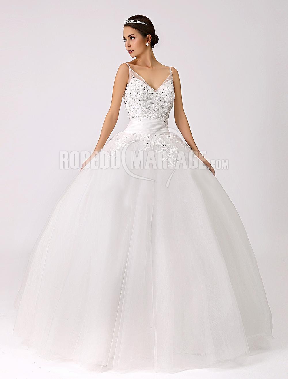 ... Robe de mariée romantique > Robe de mariée romantique paillette