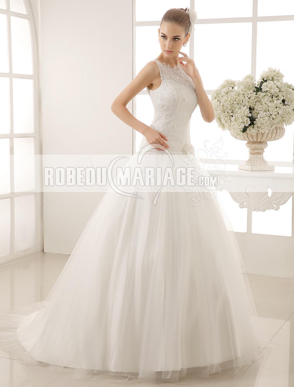 robe de mari e princesse sans manches en dentelle et perles avec fleur robe2011378. Black Bedroom Furniture Sets. Home Design Ideas
