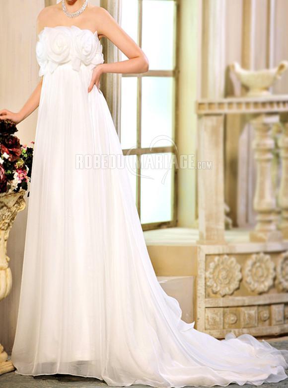 ... Robe de mariée 2016 > Robe de mariée pas cher en organza sans
