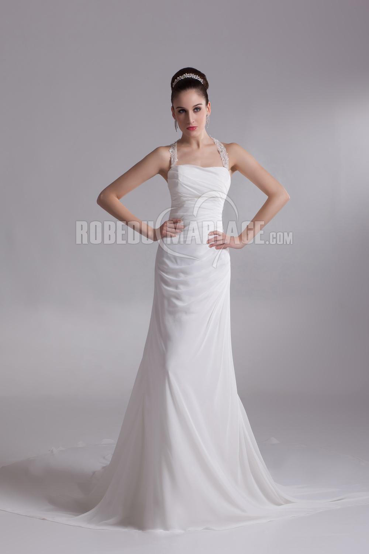 bretelle au cou robe de mariage classique robe pas cher robe2011656