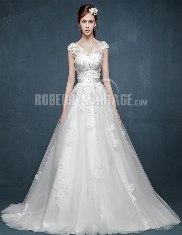 Accueil > Robe de mariage > Robe de mariée princesse > Fleur robe de...