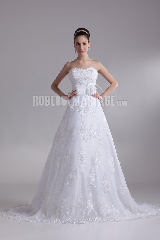 Empire robe de mariage pas cher satin fleur robe sur mesure [# ...