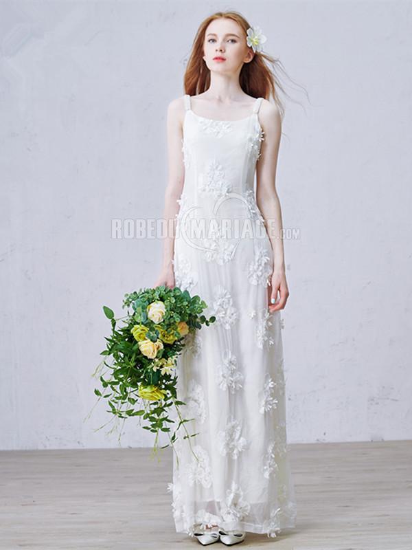 bretelle fine robe de mari e plage en dentelle fleur pas cher robe2012035. Black Bedroom Furniture Sets. Home Design Ideas