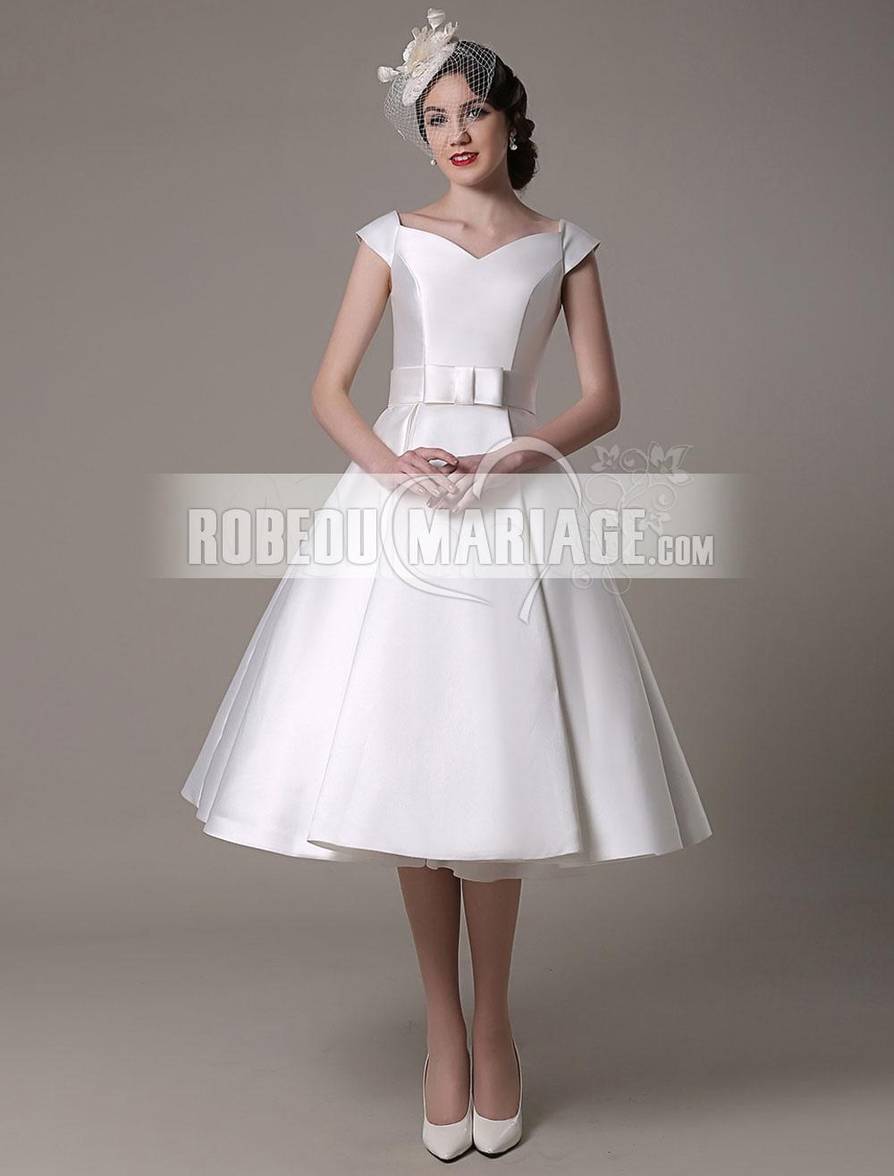 Accueil > Robe de mariage > Robe de mariée civile > Col en V robe de...