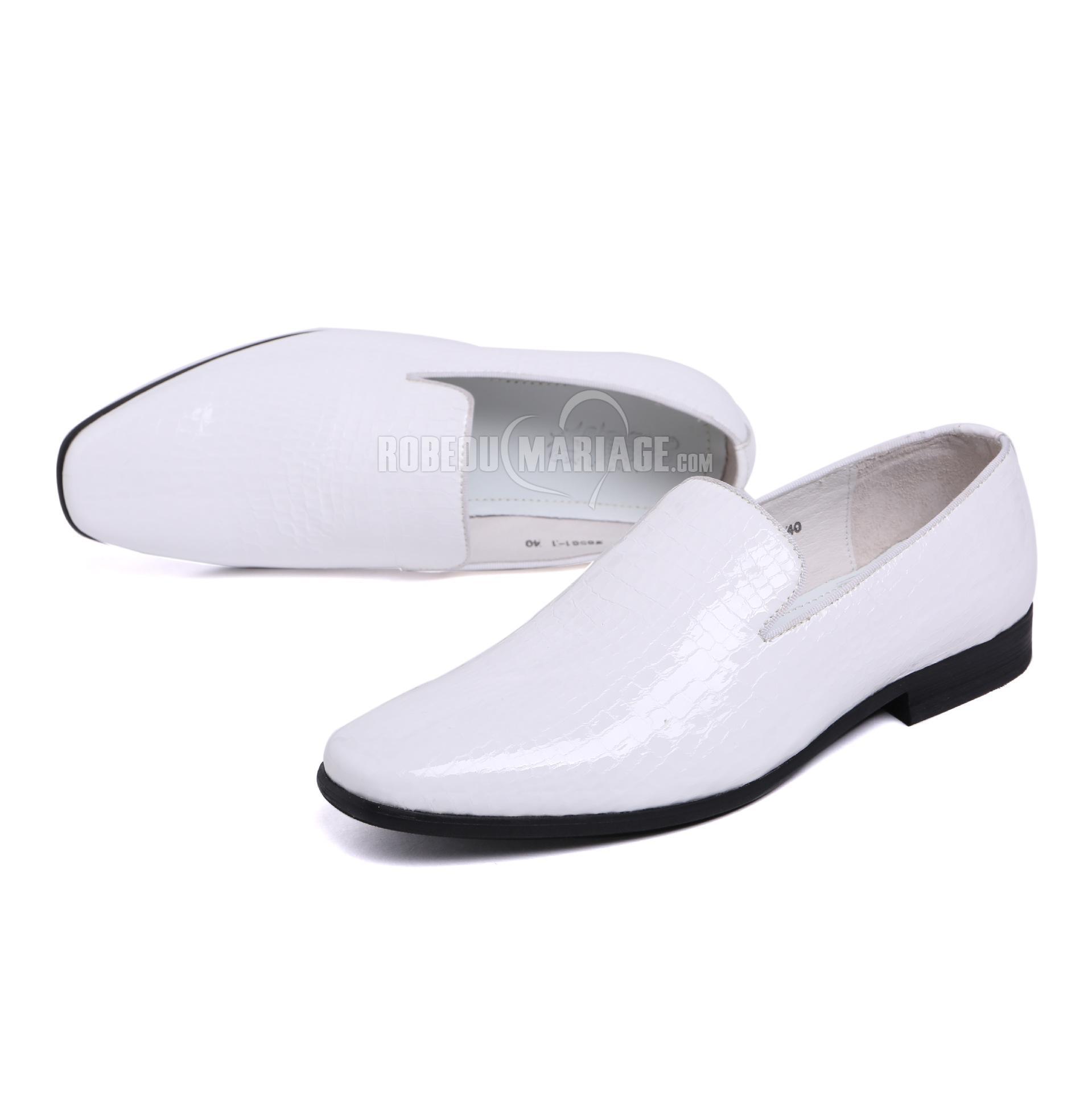 Sans lacet chaussure homme pas cher en peau de vache