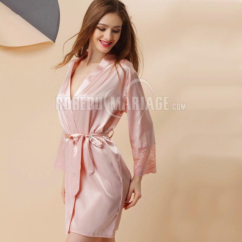 Vêtement de soie nuit femme en une pièce pas cher