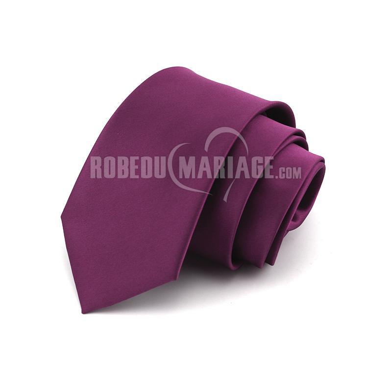 Robedumariage FR 8cm cravate viollet  hommes s'habillent élégant professionnel