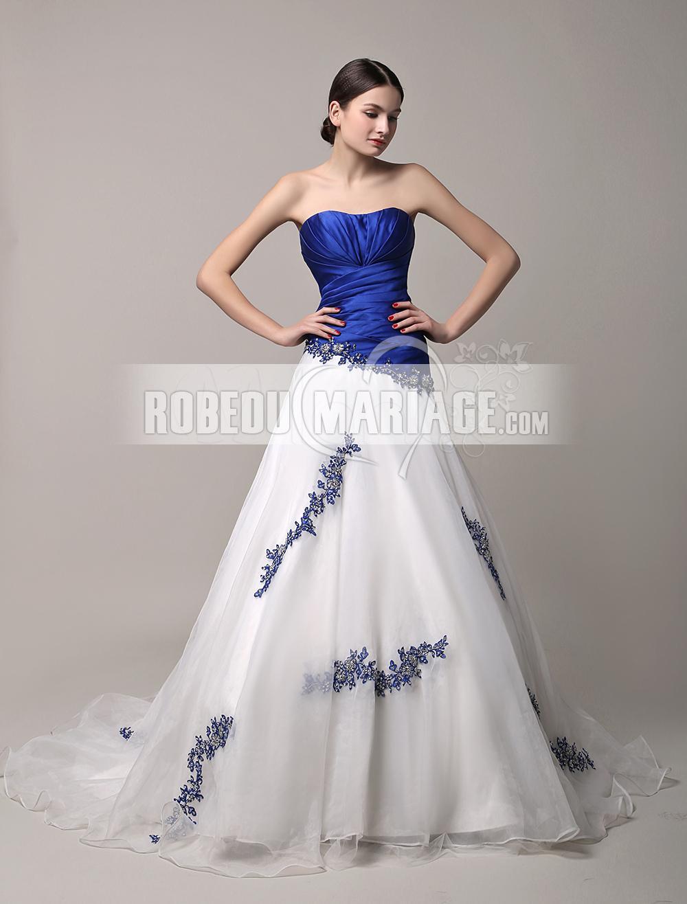 robe de mari e bustier en couleur en satin avec appliques pas cher robe2012677. Black Bedroom Furniture Sets. Home Design Ideas