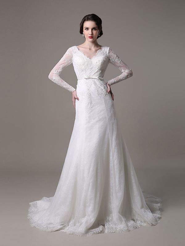 ... Robe de mariée 2017 > Manches longues robe de mariée dos nu robe