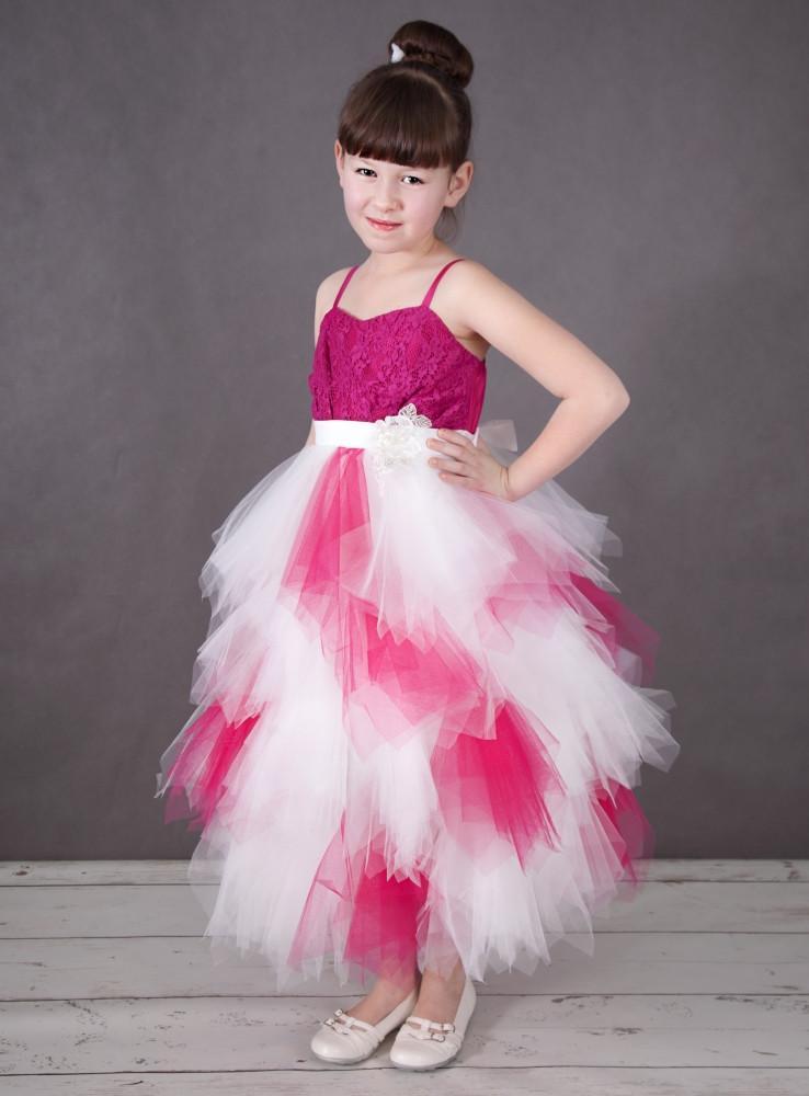 Robedumariage FR Robe colorée robe de demoiselle d'honneur fille avec bretelles fines Photos réelles