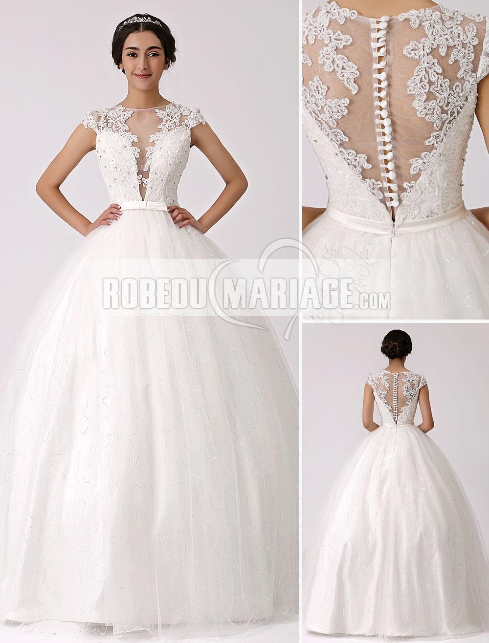 Robes de mariage Nouveauté robe de mariage ample en satin applique