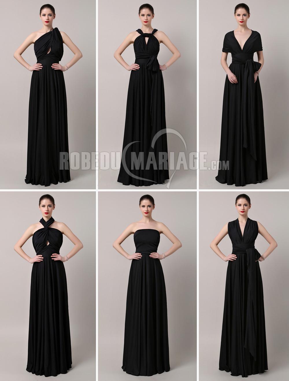 Robedumariage FR Elégante robe de cocktail en satin longueur au sol plusieurs styles