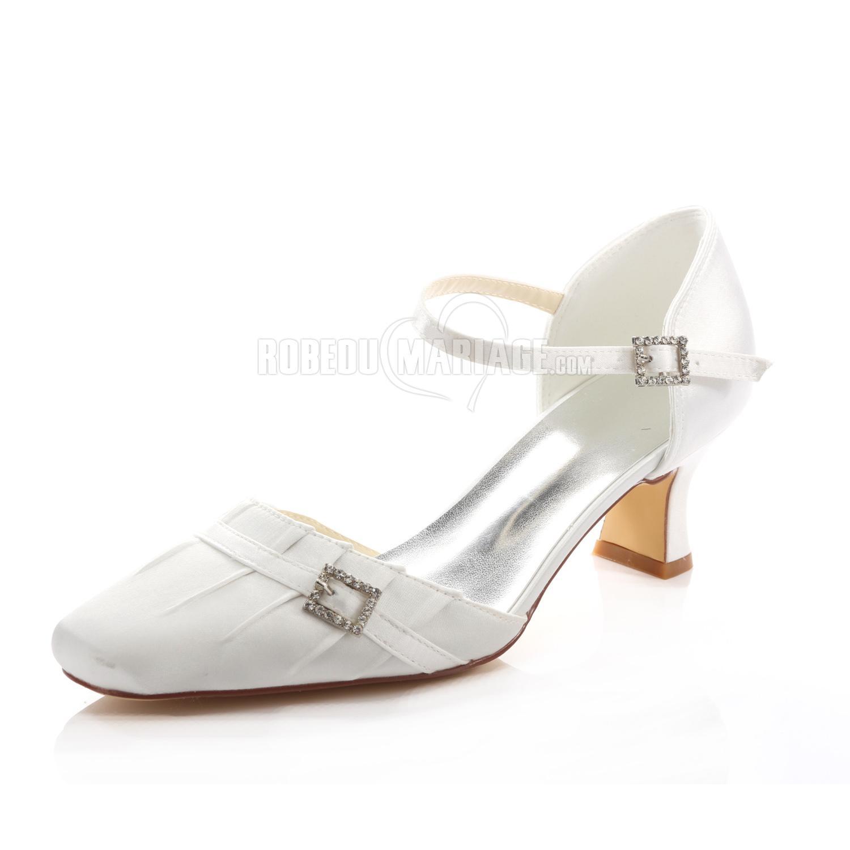 empeigne en satin chaussure de mari e talon moyen confortable robe2013506. Black Bedroom Furniture Sets. Home Design Ideas
