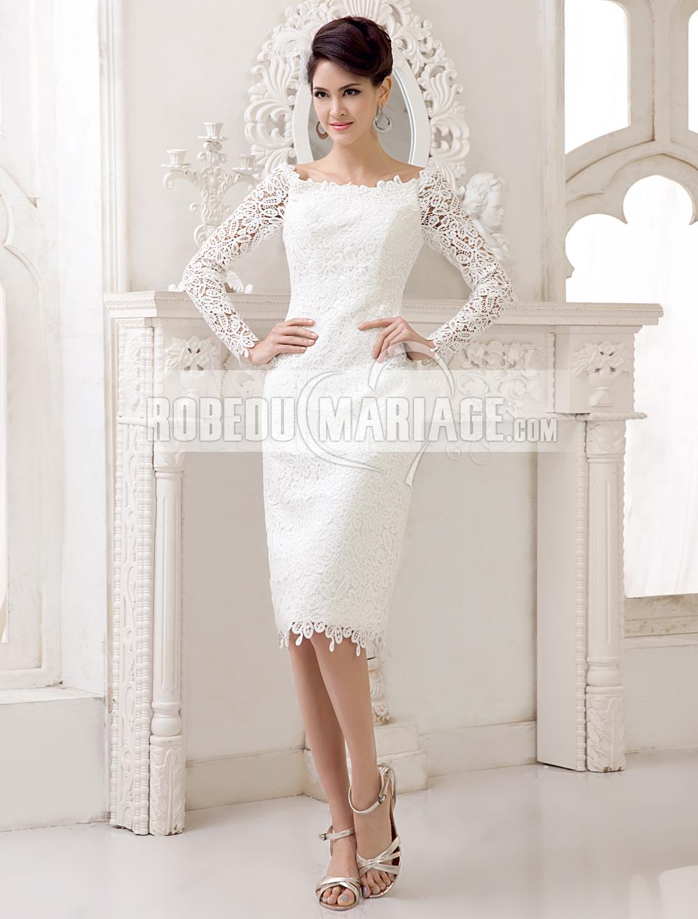 robe de mari e courte avec manches longues robe l gante robe2013629. Black Bedroom Furniture Sets. Home Design Ideas