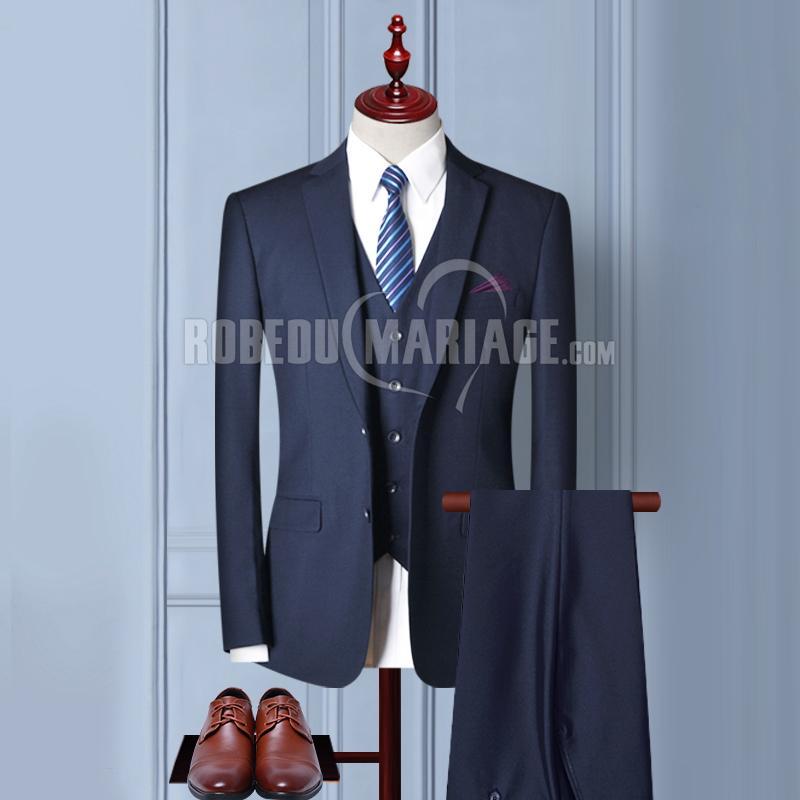 Costume du marié 2 ou 3 pièces Veste Pantalon Gilet avec 6 cadeaux gratuits Costume pas cher