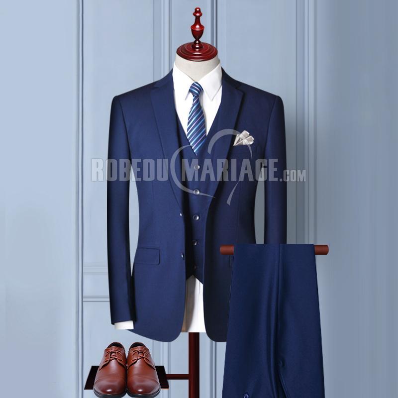 Costume du marié Costume homme pas cher 2 ou 3 pièces Veste Pantalon Gilet avec 6 cadeaux gratuits