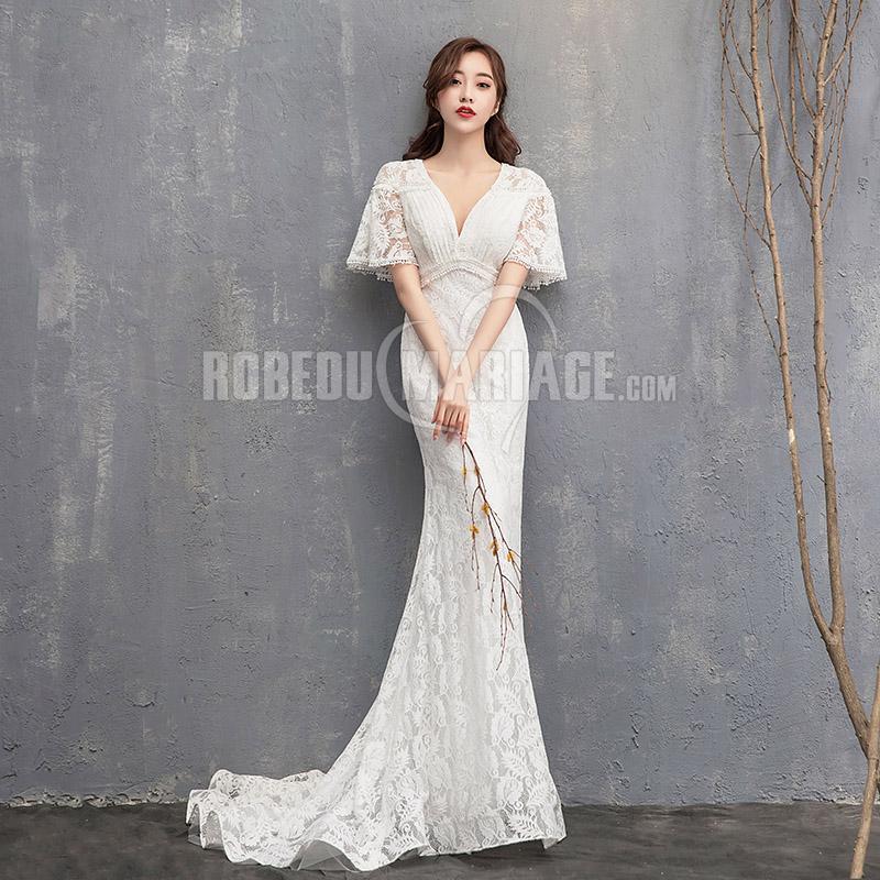 Robe de mariee style fourreau