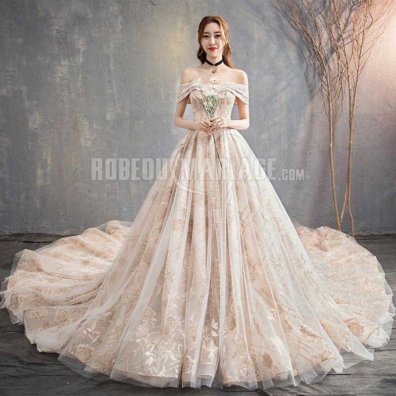 Nouveaute Robe De Mariee Luxe 2019 Magnifique Robe D Epaule Degagee Robe2014174 Robedumariage Com