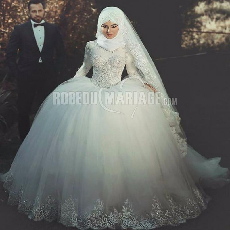 Robe de mariée musulmane sur mesure A LA